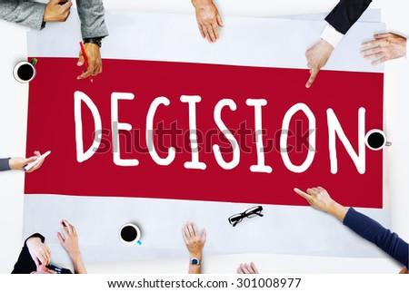 Decision Choose Chance Selection Option Concept - stock photo