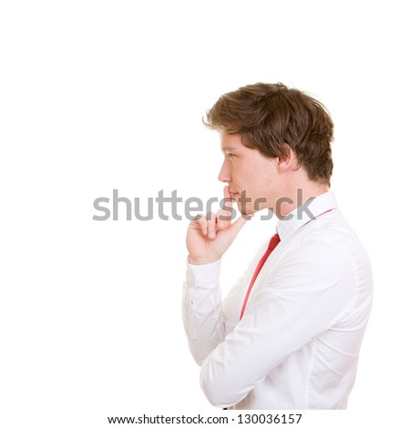 decision making, business man thinking - stock photo
