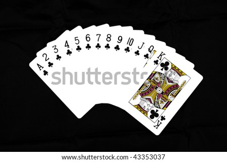 Deck of Clubs - stock photo