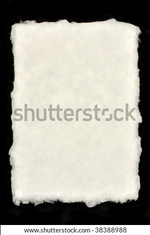 Deckle Edged Paper - stock photo