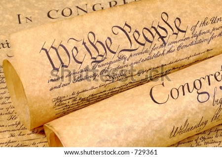 Declaration of Independence Rolled Up - stock photo