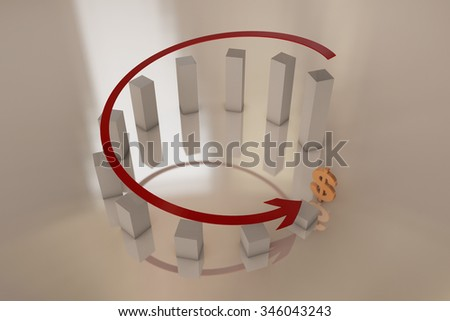 Decline in performance - stock photo