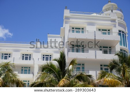 Deco architecture Miami Beach - stock photo