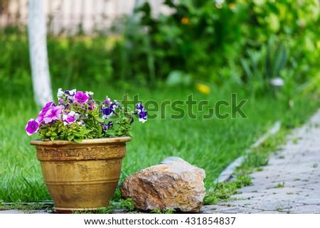 Decor in the garden - stock photo