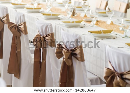 decorated chairs - stock photo