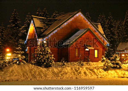Decorated house with - stock photo
