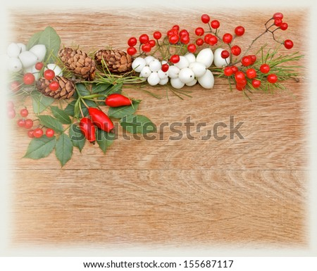 Decorated twig of Christmas tree  - stock photo