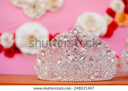 Decorated wedding scene - stock photo