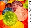 Decorating Light Balls. - stock photo
