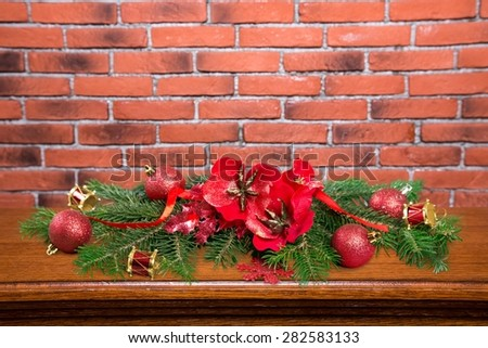 Decoration, fir, closeup. - stock photo