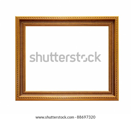 decoration frame isolated on a white - stock photo