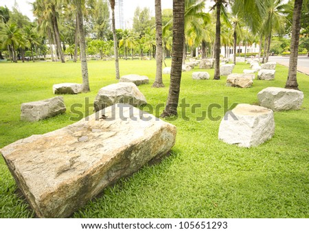 decoration in the city park - stock photo