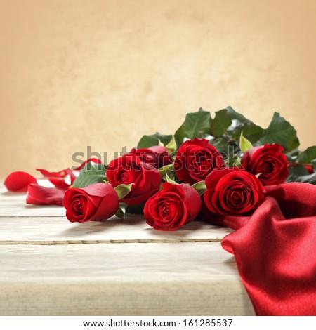 decoration of fresh love flowers  - stock photo