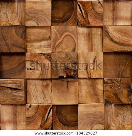 Decoration wooden blocks - paneling pattern - seamless background - Interior Design wall - Fine natural texture - Continuous replication - stock photo