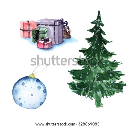 Decorations for Christmas - stock photo