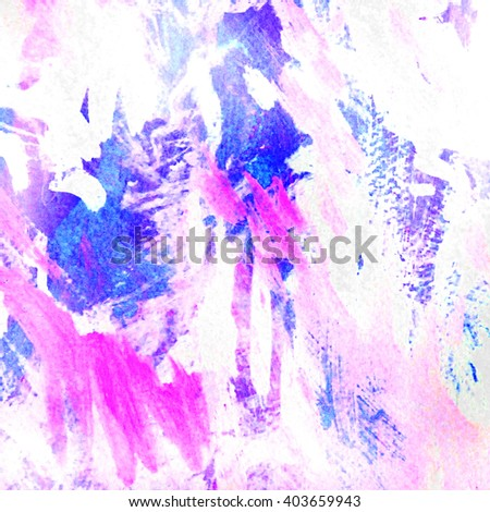 decorative abstract painting for interior, illustration,pattern,wallpaper - stock photo