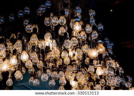 Decorative antique edison style light bulbs  - stock photo