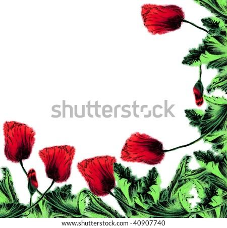 Decorative background - stock photo