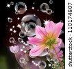 Decorative beautiful flower design - stock photo