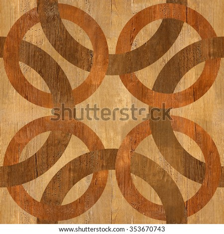 Decorative blended circles - seamless background - Interior Design pattern - Abstract decorative panels - wood texture - stock photo