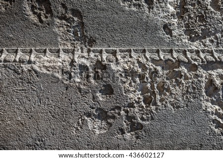 Decorative building stone that has eroded. - stock photo