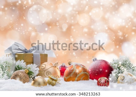 Decorative christmas background. - stock photo