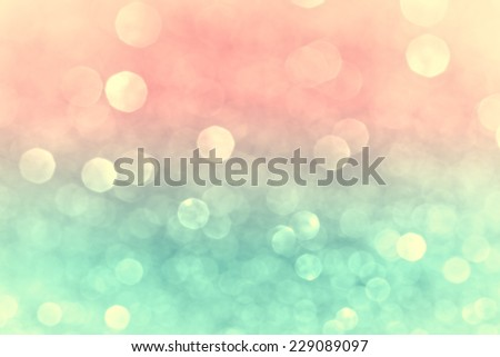 Decorative Christmas bokeh lights - stock photo