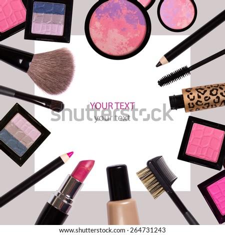 Decorative cosmetics - stock photo