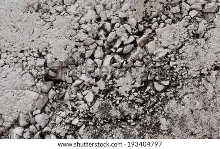 Decorative floor texture with gravel stones - stock photo