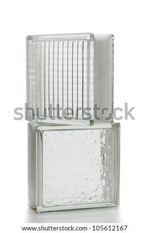 Decorative glass blocks for the construction - stock photo
