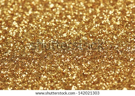Decorative gold background with sparkling - stock photo