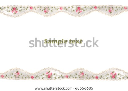 Decorative lace with pattern - stock photo
