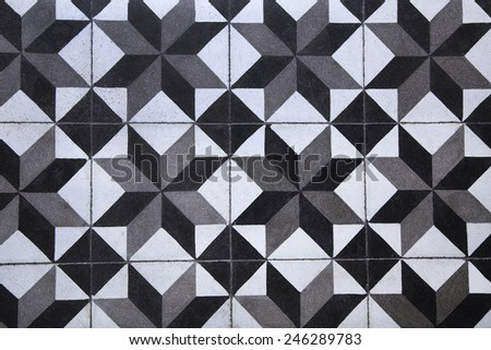 Decorative marble mosaic tiled floor - stock photo