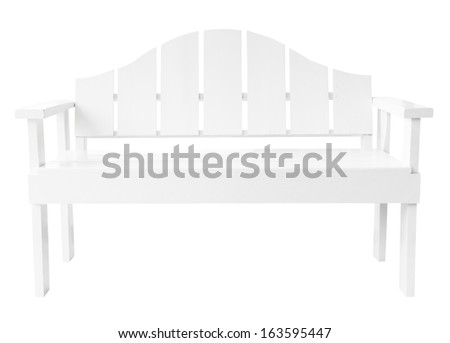 Decorative modern style wooden chair white paint, kind of furniture isolated on white background - stock photo