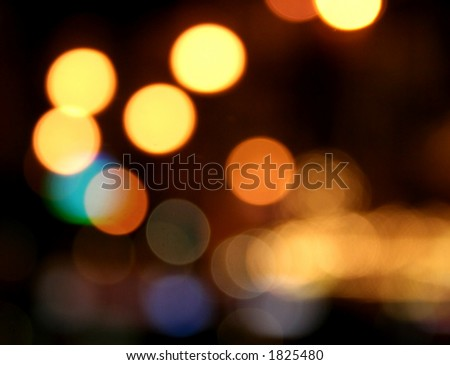 Decorative neon lights in soft focus. - stock photo
