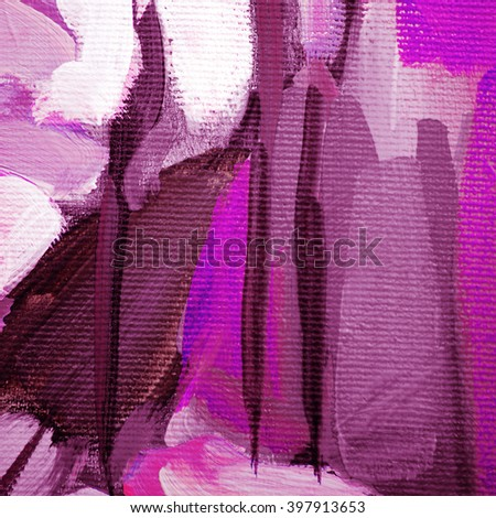 decorative painting for an interior by oil on canvas, illustration - stock photo