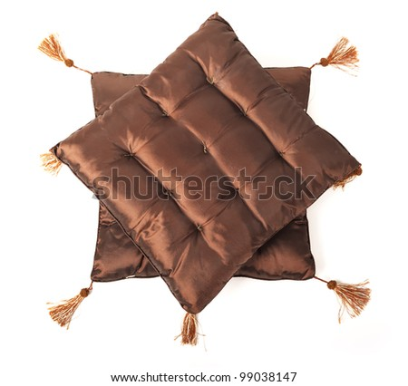 Decorative pillow isolated on white background - stock photo