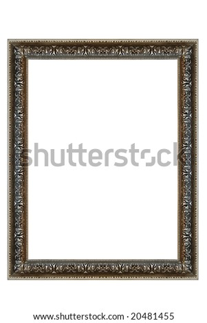 Decorative Square Silver Frame - stock photo