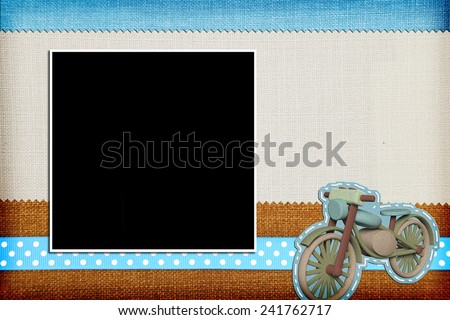 Decorative template with photo frame. Scrapbook, photobook concept - stock photo