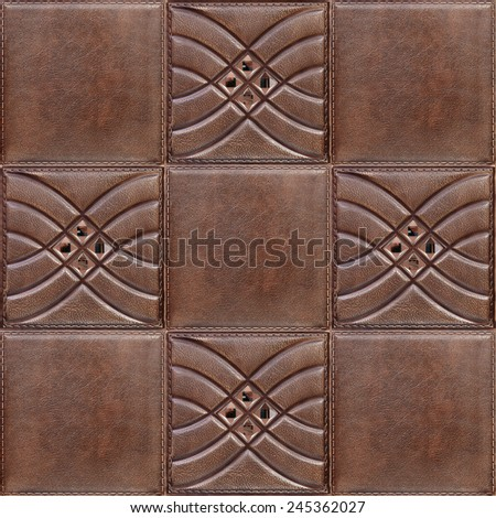 Decorative tile with volume drawing and texture of skin, nobody. - stock photo