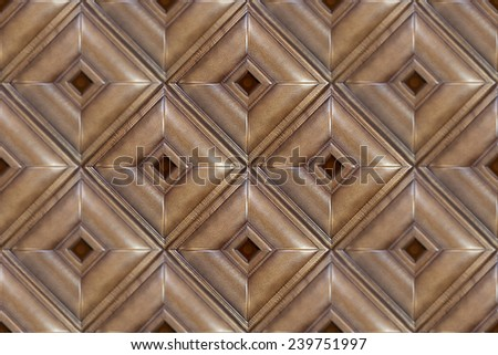 Decorative tile with volume drawing and texture of skin, the isolated image of a pattern of a leather tile for an interyere, nobody. - stock photo