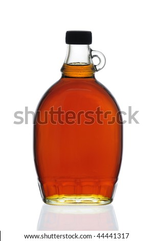 Decorative Traditional Maple Syrup Bottle From Canada - stock photo