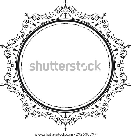 Decorative vintage frame. - stock photo