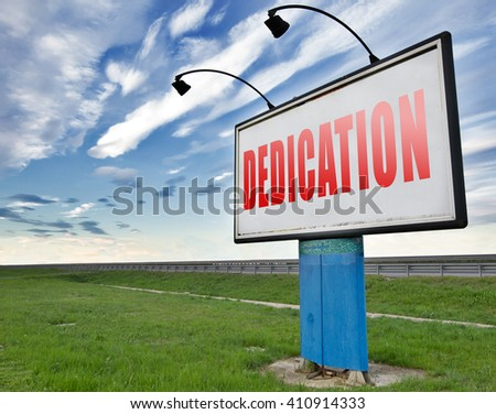 Dedication, motivation and attitude. Motivate self for a job letter a talk or task, yes we can think positive, road sign billboard. - stock photo