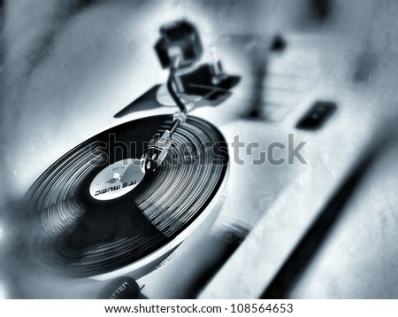 deejay - stock photo