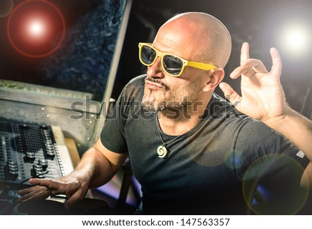 Deejay at the Party - stock photo