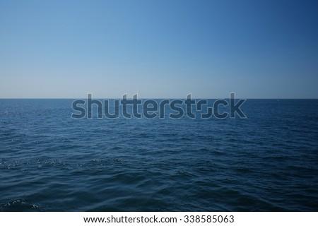 Deep blue ocean horizon - stock photo