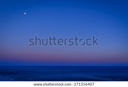 Deep blue on the black sea. - stock photo