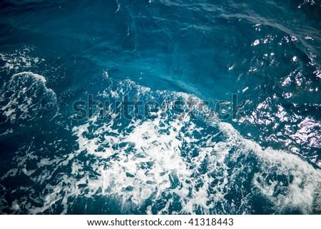 Deep blue sea texture - stock photo