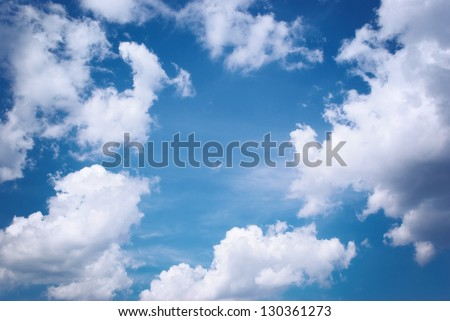 Deep blue sky. Nature composition. - stock photo
